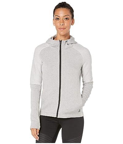 Reebok Quik Cotton Full Zip Hoodie (Medium Grey Heather) Women