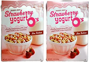 Trader Joe's Strawberry Yogurt O's - Two 12 oz. boxes