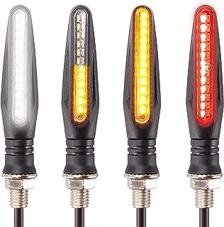 [New Version]Kinstecks 4PCS Motorcycle Indicators Flowing Turn Signal Lights Motorbike Turning Indicators Daytime Running Lights Brake Lights 12V for Motorcycle Motorbike