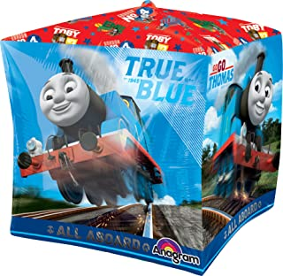 "amscan 2846301 Cube Thomas Foil Balloon Party Decoration-1 Pc, Multicolor, 15"""