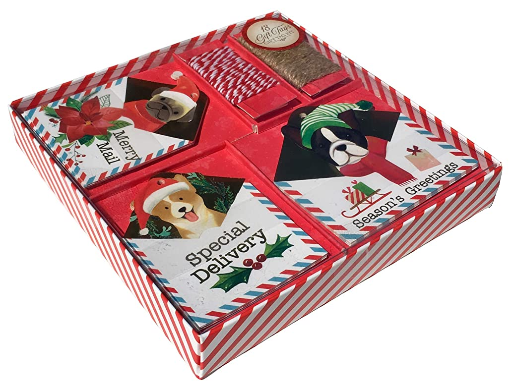 Molly & Rex Puppy Mail Boxed Holiday Gift Tags 63940, 18 ct
