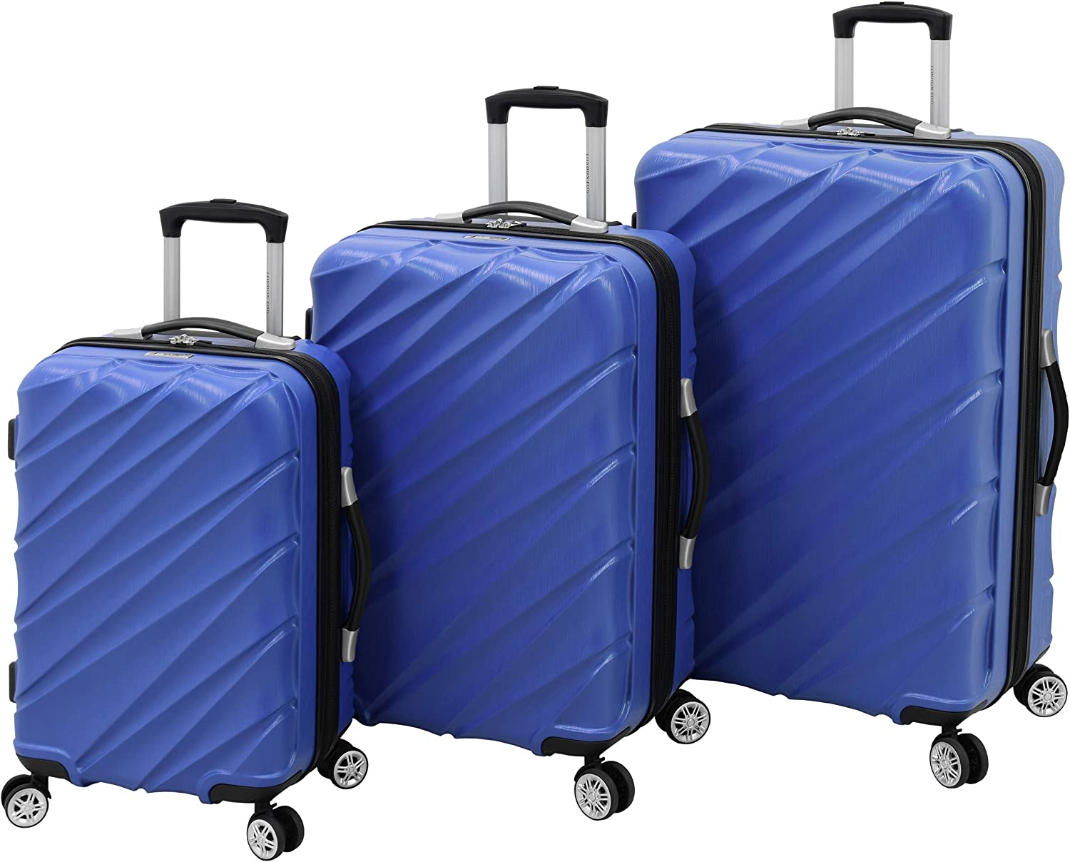 LONDON FOG Hardside Spinner Selling Selling and selling rankings Luggage 3 Cobalt Piece Set