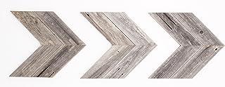 BarnwoodUSA Reclaimed Wood Double Chevron Arrow, Rustic Wall Mount Decor, Weathered Gray Decorations