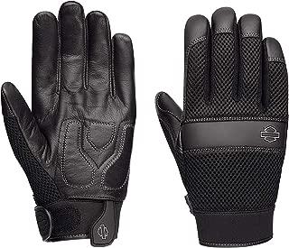Harley-Davidson Men's Removable Pad Gloves, Black