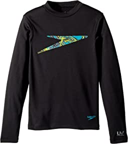 Speedo Kids - Zip Zing Logo Long Sleeve Swim Tee (Little Kids/Big Kids)