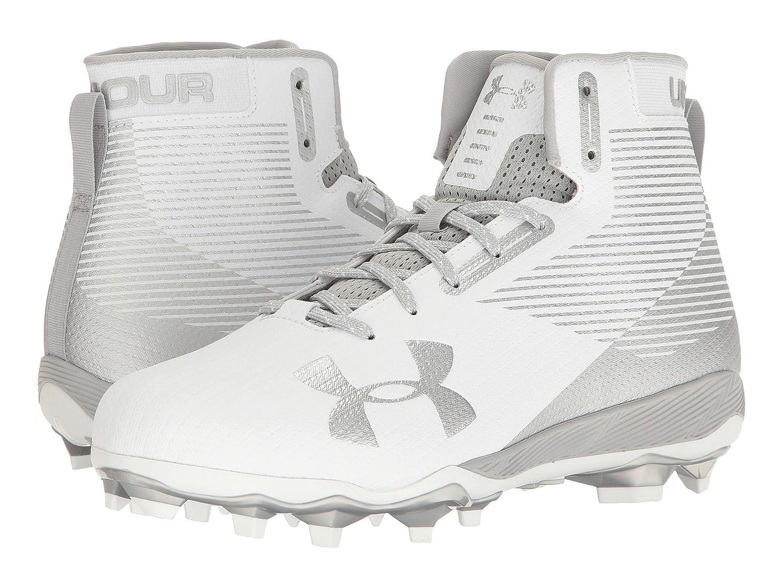 (アンダーアーマー) UNDER ARMOUR メンズフットボール?アメフトシューズ?靴 UA Hammer MC White/Metallic Silver 11.5 (29.5cm) D - Medium