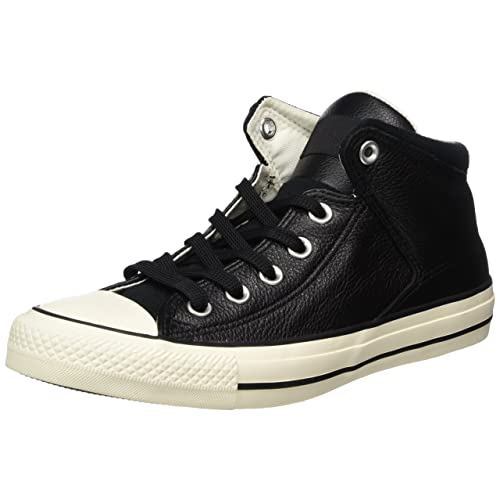 san francisco c7e9a f911c Black Leather Converse: Amazon.com