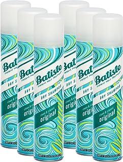 Champú en seco Batiste Clean & Classic Original cabello fresco para todos los tipos de cabello (6 x 200 ml)