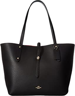 COACH Polished Pebbled Leather Market Tote