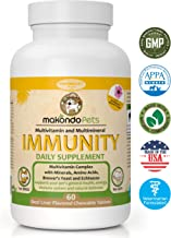 Dog Immune System Boosters–Immunity Boost Supplements for Dogs/Cats –Health Support Chewable Treats System for Your Pets|Coat & Health Maintenance–All Natural Immunity Boosters
