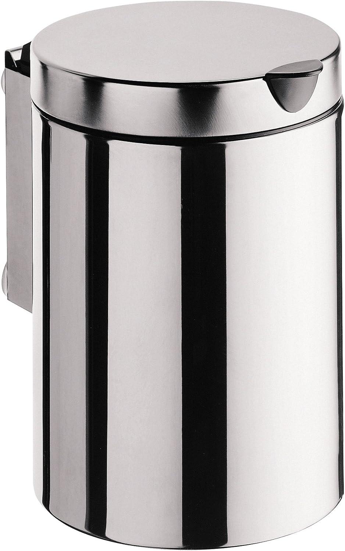 Emco 355300100 Abfallbehlter System 2 mit Deckel wandhngend 3 Liter, Edelstahl