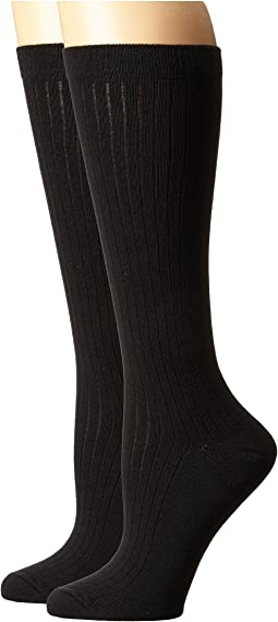 59b9142c2e122 Black. 43. PACT. Everyday Knee Socks 2-Pack