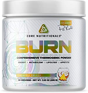 Core Nutritionals Platinum Burn Comprehensive Thermogenic Powder 50 Servings (Pineapple Colada)