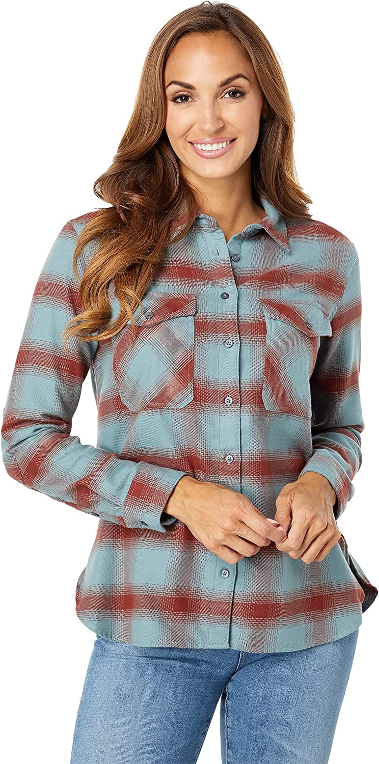 Pendleton Women's Max 89% OFF All items free shipping Long Sleeve Elbow Cotton Flannel Patch Shirt