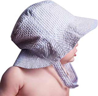 Baby & Toddler Boys Seersucker Bucket Sun Hat in Choice of Color UPF 25+