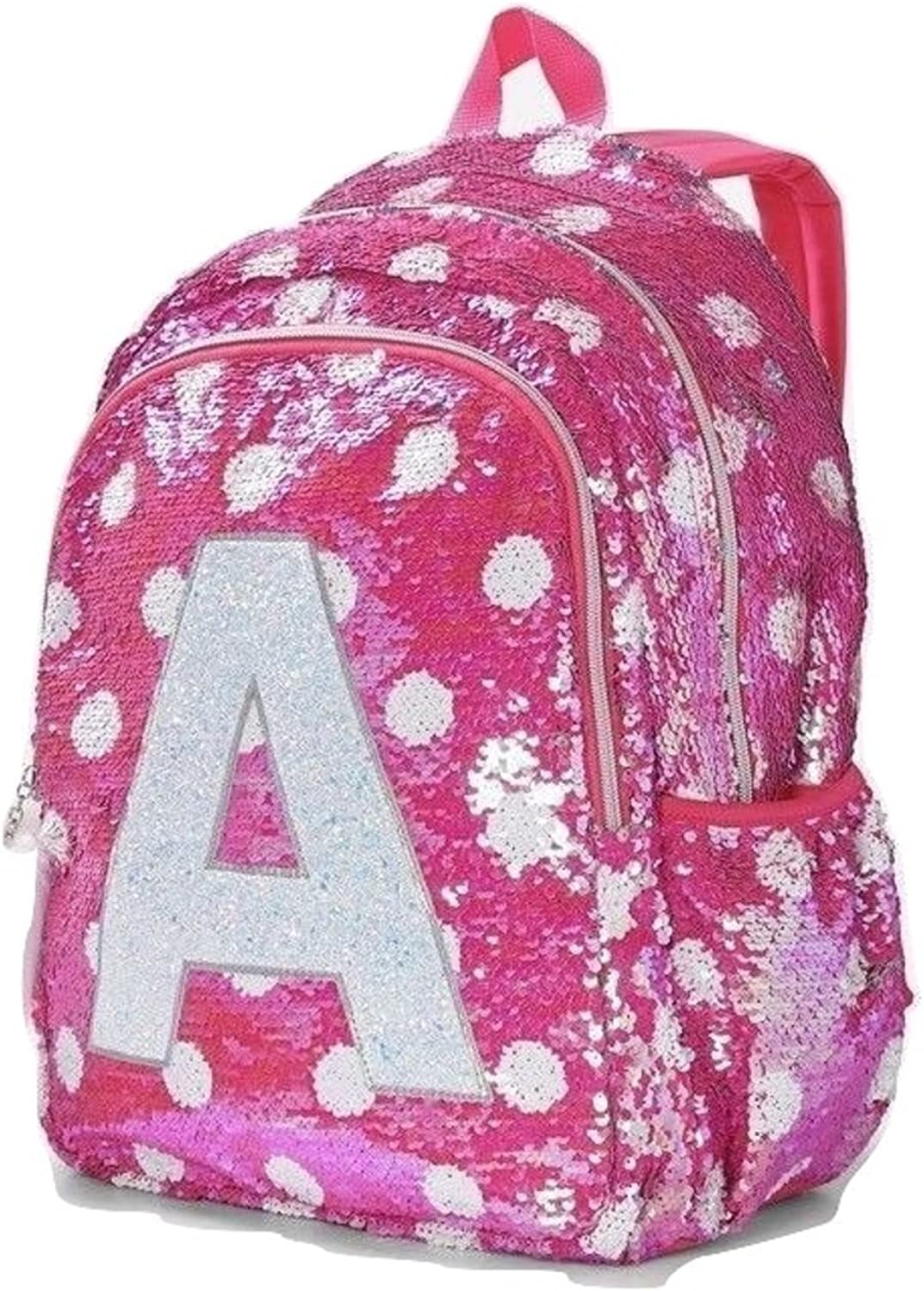 Justice Pink Flip Sequin Initial Mini Backpack