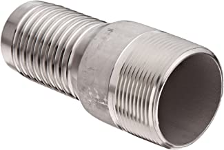 Dixon RST20 Stainless Steel 316 Hose Fitting, King Combination Nipple Threaded End with No Knurl, 1-1/2