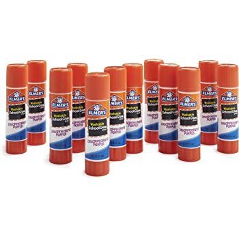 Elmer's Disappearing Purple School Glue, Washable, 12 Pack