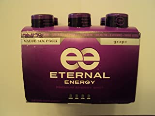 Eternal Energy Grape flavor 2 (6 Pack) with minerals, 25 vitamins, amino acids and antioxidants. ZERO SUGAR! 12 bottles total.