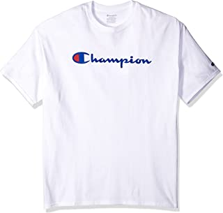 Champion Men's Classic Jersey Graphic T-shirt, WHITE, Large