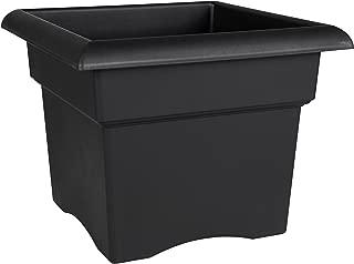 Bloem Fiskars 14 Inch Veranda 3 Gallon Box Planter, Black (57914), 14-Inch,