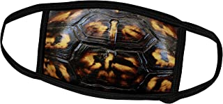 3dRose Face Mask Medium, Macro photograph of a box turtle shell