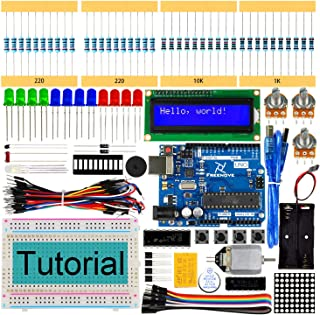 Freenove Super Starter Kit with UNO R3 (Arduino-Compatible), 139 Pages Detailed