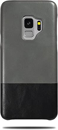 c8f21bbb1 Kulor Cases Samsung Galaxy S9 Leather Case (Fossil Gray & Crow Black),  Handmade