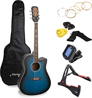 Martin Smith Premium Acoustic Guitar Kit With Guitar Tuner, Guitar Bag, Guitar Stand, Guitar Strings, Plectrums & Holder, ...