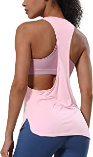 BUBBLELIME Tank Tops for Women Modal Yoga Workout Racerback Top Activewear Super Soft