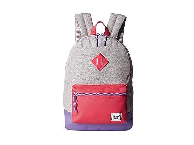 Herschel Supply Co. Kids Heritage Youth (Big Kids) (Light Grey Crosshatch/Raspberry Sorbet/Aster Purple) Backpack Bags