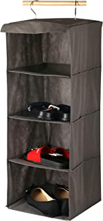 HOMEP PRO 4-LAYER HANGING SHOES RACK ORGANIZER EASY TO SET UP AND FOLDABLE IF NOT BEING USED, 30X30X80cm