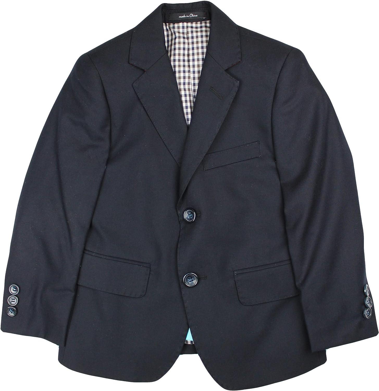 T.O. Collection Boys Blazer Sports Suit Jacket (Slim, Regular, Husky Fits) - Navy, 14