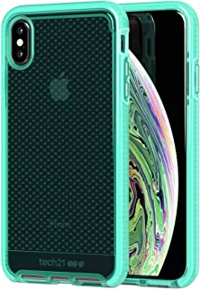 tech21 Evo Check Custodia Protettiva per Apple iPhone XS Max - Turchese Neon