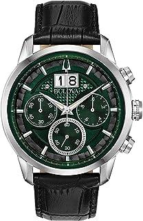 Bulova - Reloj Cronógrafo para Hombre de Cuarzo con Correa en Cuero 96B310