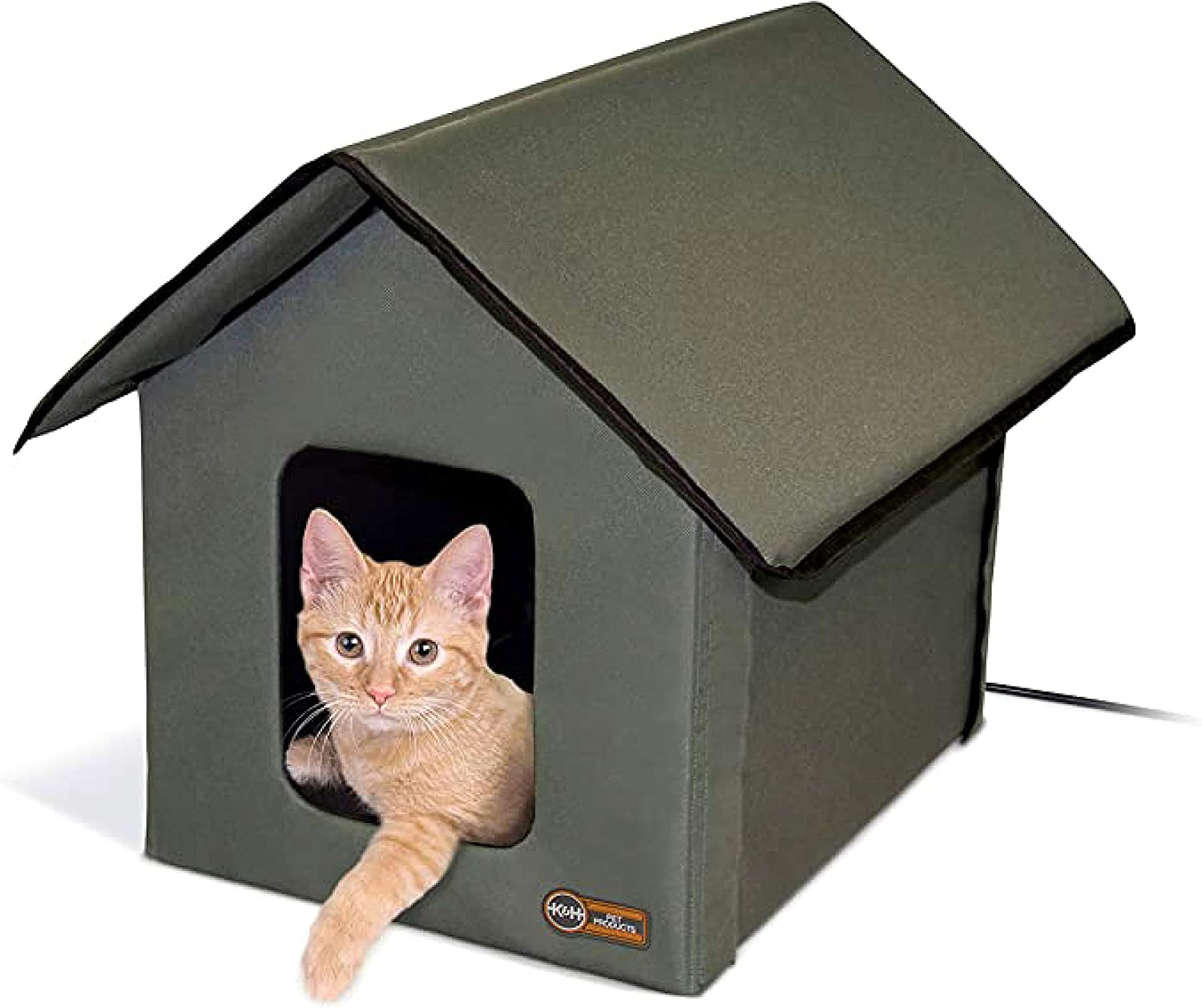 K H Pet Products 3996 Outdoor Heated Kitty House Gray Black Met Safety Listed The Original Outdoor Heated Kitty House Amazon Co Uk Pet Supplies