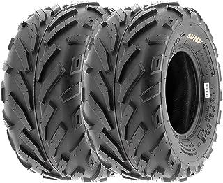 SunF 18x9.5-8 18x9.5x8 ATV UTV All Terrain Race Replacement 6 PR Tubeless Tires A016, [Set of 2]