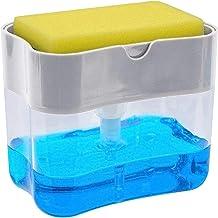 Chic Fantasy Dispensador de jabón para cocina con soporte de esponja 2 en 1 Dispensador de jabón de platos de las más alta...