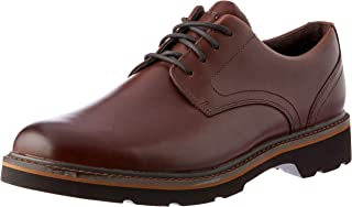 ROCKPORT Men's Charlee Waterproof Plain Toe Uniform Dress Shoes, Cocoa Brown, 10 US