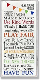 The Kids Room by Stupell Playroom Rules with Banner...
