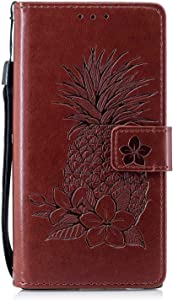 Bear Village  Sony Xperia XZ1 Case  Premium Leather Wallet Case with Viewing Stand and Card Slots  Magnetic Flip Cover for Sony Xperia XZ1  Brown