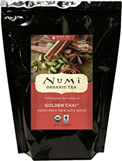Numi Organic Tea Golden Chai, 16 Ounce Pouch (Pack of 2) Loose Leaf Black Tea (Packaging May Vary)