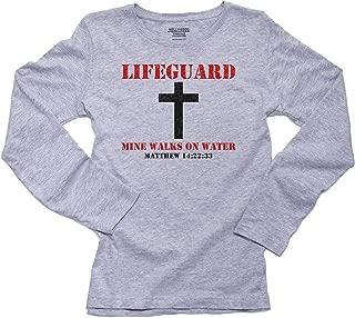 My Lifeguard Walks On Water - Christian - Jesus Women's Long Sleeve T-Shirt