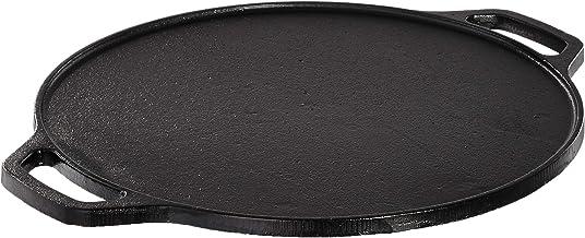 Amazon Brand - Solimo Pre-Seasoned Cast Iron Dosa Tawa, 12 Inches (30 cm), Black