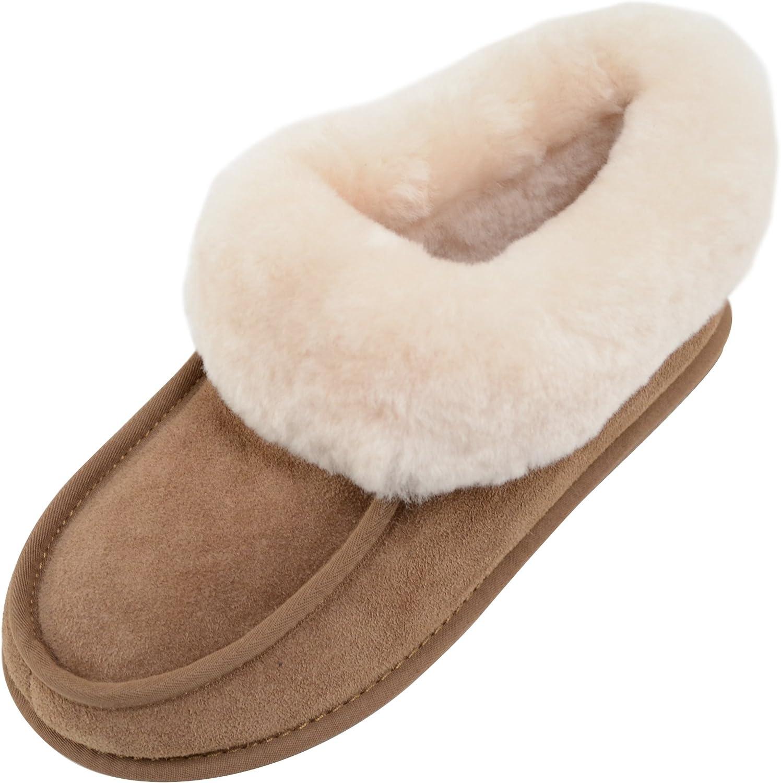 SNUGRUGS Fern, Women's Sheepskin Slipper Boot Rubber Sole