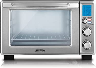 Sunbeam BT7100 Quick Start Digital Mini Oven Electric Toaster Oven and Grill 22L 1700W 10 Cooking Pre-Sets Wire Rack, Pizza T