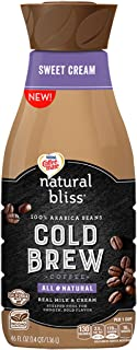 COFFEE MATE NATURAL BLISS Sweet Cream Cold Brew Coffee – Cold Brew Coffee Made from 100% Arabica Beans, All Natural, No GMO Ingredients, 46 fl. oz. Bottle