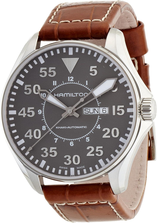 Hamilton Reloj Analogico para Hombre de Automático con Correa en Cuero H64715885