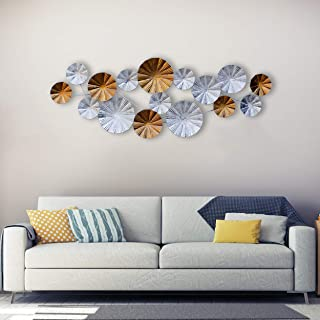 Craftter Long White and Gold Color Metal Wall Art Sculpture Home Décor Wal Hanging