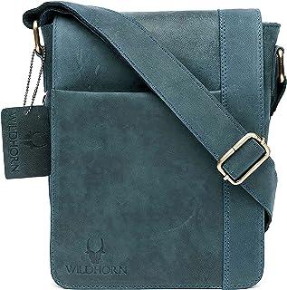 WILDHORN® 100% Genuine Leather 8.5 inch Sling Messenger Bag for Men I Multipurpose Crossbody Bag I Travel Bag with Adjusta...